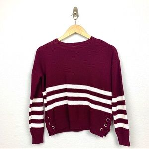 ⭐️Pink Republic Cropped Burgundy Sweater
